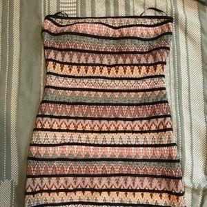 Autumn-leaf patterned tube dress - Forever21